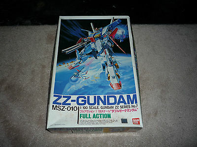 Vintage 1986 ZZ-Gundam MSZ-010 Full Action Model 1/100 Scale No. 7 Unpunched