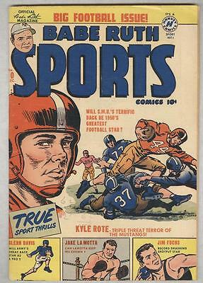 Babe Ruth Sports Comics #10 December 1950 VG Jake La Motta