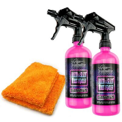 Quick Detailer Kit x 2 | High Gloss Spray Wax | Car Care Showroom Cleaning Shine