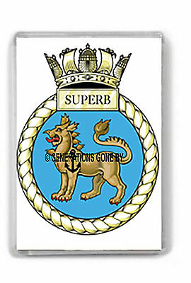 Hms Superb Fridge Magnet