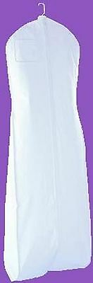 New White Vinyl Bridal Wedding Gown Dress Garment Bag