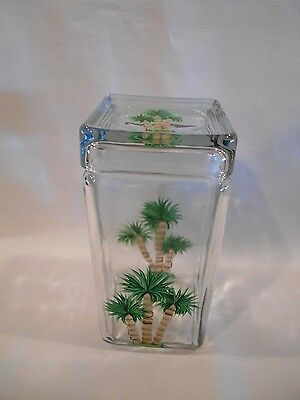 Hand painted  Palm tree jar