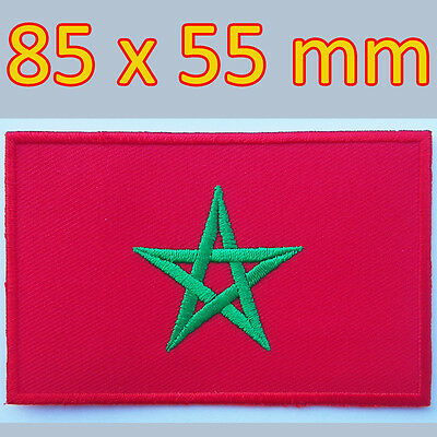 Morocco Flag Moroccan Souvenirs Iron on Patch Travel National Rabat Casablanca