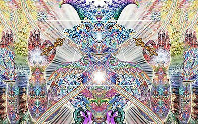 "Psychedelic Trippy Art Silk Cloth Poster 21 x13"" Decor 114"