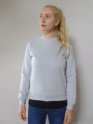 Vintage retro true 70s 8 10 S unused grey warm top windcheater NOS as new
