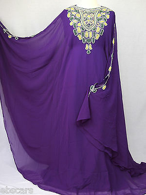 Purple Angel Style  Batwing Farasha with Sleeves Latest Collection kaftan abaya