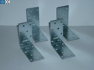80mm HD GALVANISED ANGLE BRACKETS CORNER BRACE JOINTS TIMBER CE different sizes