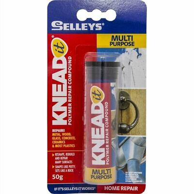 SELLEYS KNEAD it Polymer Repaid Compound Multi Purpose 50g 04-915