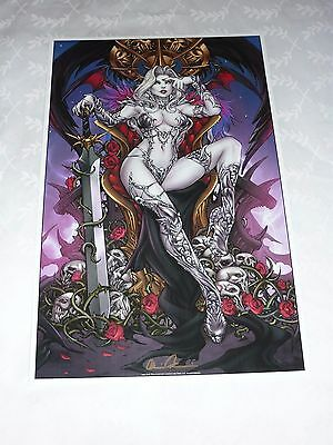 2016 Eccc Lady Death Dg Art Print 6 By Paolo Pantalena Signed Brian Pulido