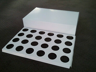 5 x 24-hole Cupcake box Carrier Transporter Box 10cm high, 6cm hole (C12)