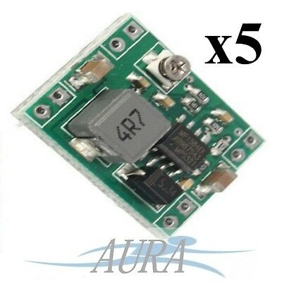 5 x XM1584 Step Down Adjustable Power Supply DC-DC 3A Minature LM2596 UK A502