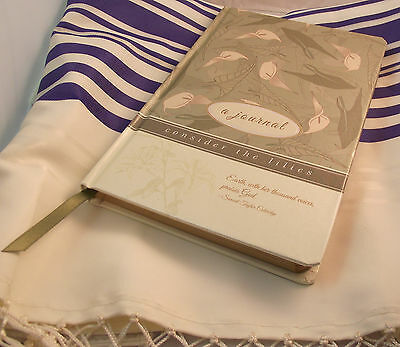 NEW Consider The Lilies, Prayer Journal w/ Christian Scripture, Verse & Quotes