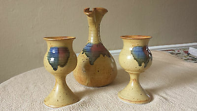 Badger Hill Pottery Gobletts and Pitcher