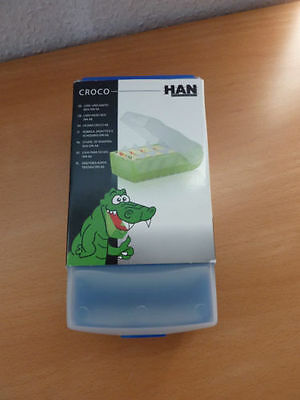 HAN 998-643 Karteibox CROCO A8 with 5 transverse support plates and 100 maps, tr