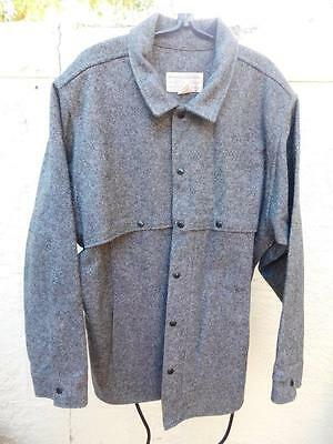 CC FILSON Co USA MENS SALT & PEPPER 100% WOOL MACKINAW HUNTING SHIRT JACKET XXL
