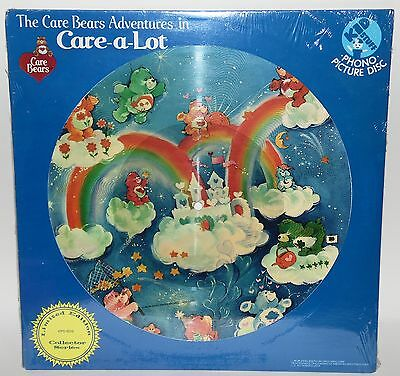 Care a lot Care Bears LP Schallplatte Vinyl Bild Glücksbärchis Disc Picture Deko