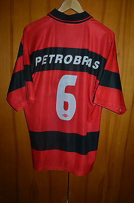 Flamengo Brazil 1999 No Match Worn Home Football Shirt Camiseta Jersey Umbro #6