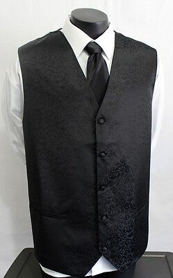 Big Men's size 10 xl  waist coat / vests with Cravat by Mondoza