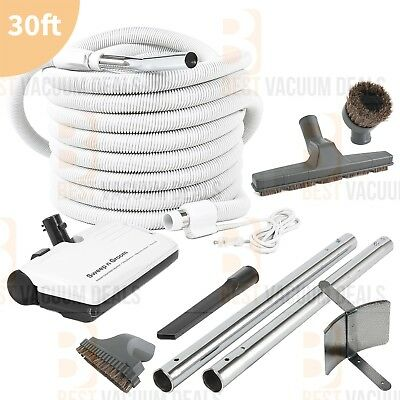 Eureka Beam Central Vacuum Electric Kit PowerHead 30 foot Hose Attachments
