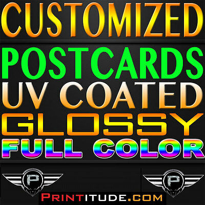 "5000 Full Color, 4x6, GLOSSY UV COATED, 2 SIDED 4"" x 6"" POSTCARDS + Free Design"