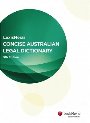 Concise Australian Legal Dictionary