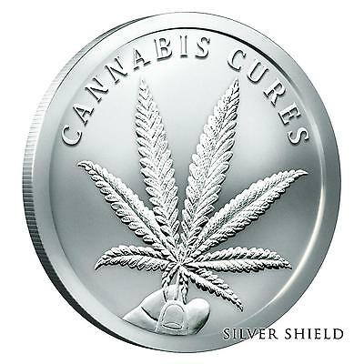 2016 Silver Shield Cannabis Cures 1 oz .999 Silver Round Bullion Coin