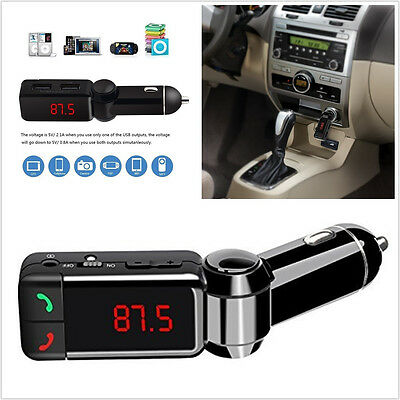 LCD Wireless Bluetooth Autos MP3 Player FM Transmitter USB Charger Handsfree Kit