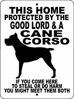 CANE CORSO Guard Dog Aluminum Sign  Vinyl Decal GLCC1