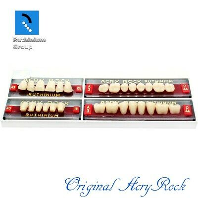 4pcs set Acrylic Dental Lab Teeth Ruthinium Acryrock Teeth A3 Size 25 Full mouth