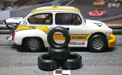 1/32 URETHANE SLOT CAR TIRES 2pr PGT-20084 fit SCX Abarth 1000