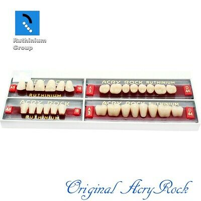 4pcs set Acrylic Dental Lab Teeth Ruthinium Acryrock Teeth A3 Size 18 Full mouth