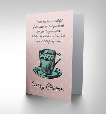 Card Christmas Xmas Merry Burnt Tongue Funny Present Gift Cp2598