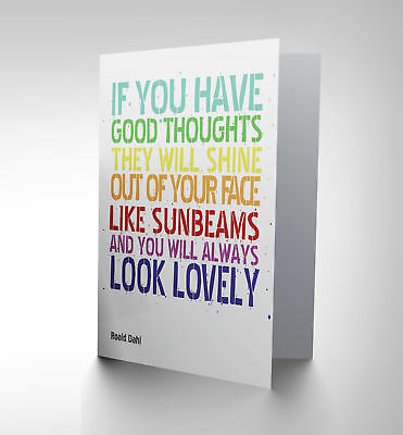 New  Good Thoughts Roald Dahl Art Greetings Greeting Card Gift Cp1786