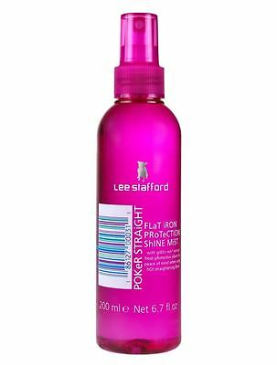 Lee Stafford Poker Straight Flat Iron Protection Shine Mist 200ml Qty 2