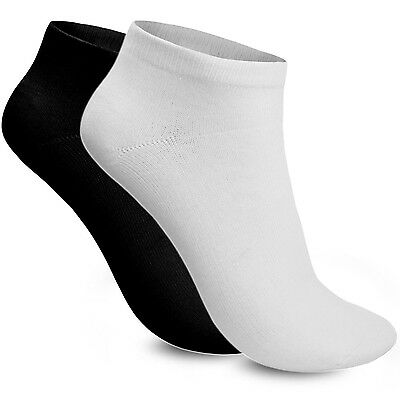 Trainer Ankle Liner Socks Women's 6 Pair Mix Black White Ladies Cotton Rich Sock