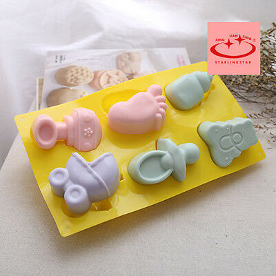 3D Baby Shower Silicone Mold Cake Decoration Candy Chocolate Soap Baking Mould