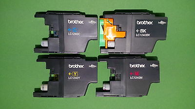 40x Brother LC-1240bk,c,m,y leer,leere Tintenpatrone,empty Brother ink cartridge
