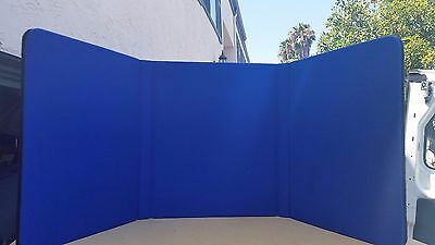 Nimlok 3-Panel Tabletop Presentation show display board trade blue black table