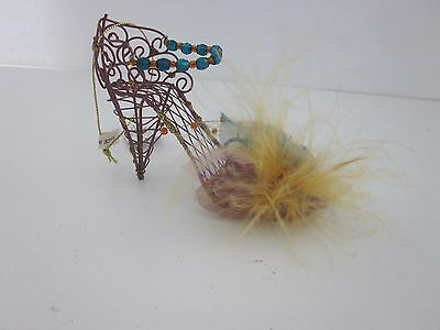 Wire Ornament Christmas Shoe Tree Unique Scroll High Heel