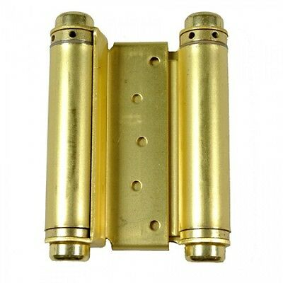 """Door Hinges  2 pcs 5"""" Inch Double Action Spring Hinge Saloon Cafe Western Brass"""