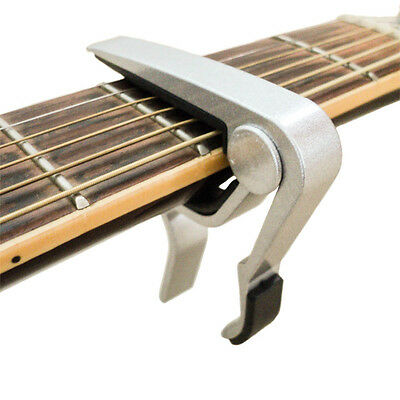 Metallic Silver Capo for Electric or Acoustic Guitar