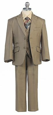 Sage Boys Toddler Kid Teen 5-PC Wedding Formal Party Suit Tuxedo Vest size 2-20