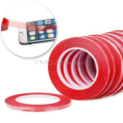 Red Double Side Tape Adhesive Sticky Glue For Cell Phone Touch LCD Screen 25m