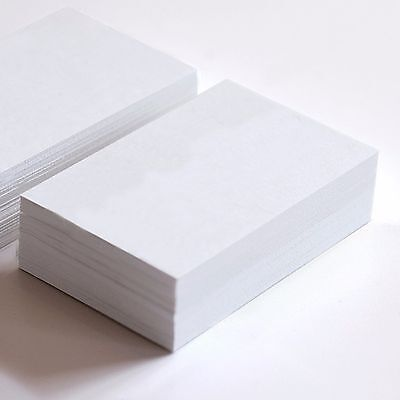 50x Blank White Paper Cards Cardstock 10x6.5CM Wedding Party Place Card Craft