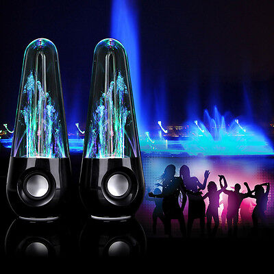 Led Music Water Dancing Speakers Usb Fountain Light For Iphone Ipod Ipad Pc Gift