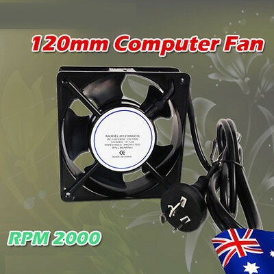Hydroponics 120mm 240V AC Fan For Grow Tent Air Loop Ventalition Energy Saving