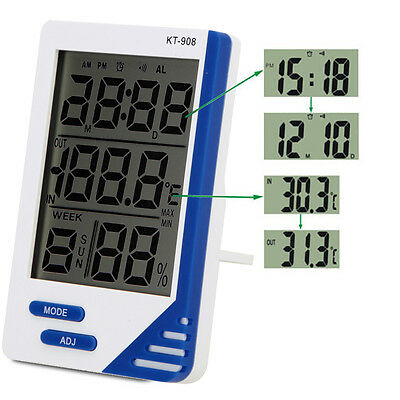 New Digital Lcd Thermometer Temperature Hygrometer Grow Tent/room Alarm Humidity