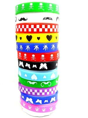 12 X Color Mix Silicone Bracelet Children Wristband Girls Boys Party Gift Favor