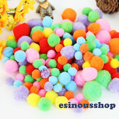 Different Package Mixed Colour Soft Fluffy Pompom Balls For DIY Craft Decoration