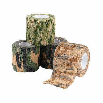 Elastic Camouflage Waterproof Outdoor Hunt Camping Stealth Camo Wrap Tape LO